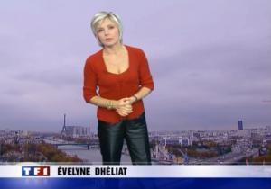 Evelyne Dhéliat à la Météo TF1 - 16/11/06 - 1