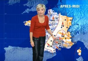 Evelyne Dhéliat à la Météo TF1 - 16/11/06 - 3
