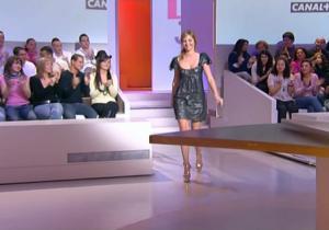 Louise Bourgoin et Meteo dans le Grand Journal De Canal Plus - 29/02/08 - 1