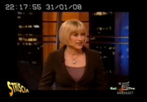 Patricia Arquette et Medium dans Striscia La Notizia - 05/02/08 - 1