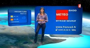 Tania Young à la Météo - 01/07/08 - 5