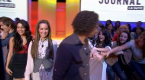 Vanessa Hudgens dans le Grand Journal De Canal Plus - 29/09/08 - 1