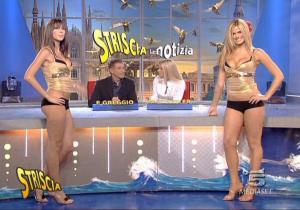 Le Veline, Mélissa Satta, Thais Souza Wiggers et Michelle Hunziker dans Striscia La Notizia - 27/09/06 - 2