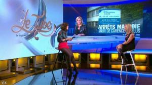 Daphné Burki et Laurence Ferrari dans le Tube - 22/03/14 - 17
