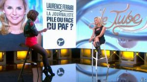 Daphné Burki et Laurence Ferrari dans le Tube - 22/03/14 - 22