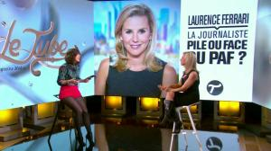 Laurence Ferrari et Daphné Burki dans le Tube - 22/03/14 - 36