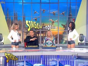 Michelle Hunziker, Costanza Caracciolo et FederiÇa Nargi dans Striscia la Notizia - 27/01/09 - 04