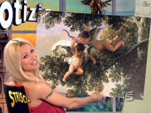 Michelle Hunziker dans Striscia la Notizia - 10/03/09 - 08