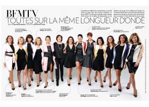 Les Filles de BFM TV Paris Match Avril 2016