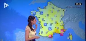 Marlène Duret à la Météo de i télé - 29/07/16 - 01