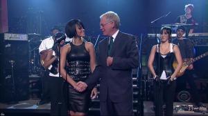 Rihanna dans David Letterman Show - 04/10/07 - 11