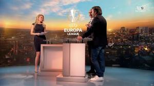 Carine Galli lors de la Soirée de l'Europa League - 05/04/18 - 04