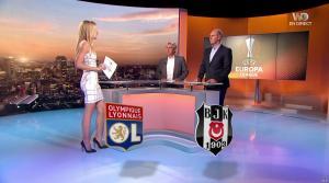 Carine Galli lors de la Soirée de l'Europa League - 13/04/17 - 04