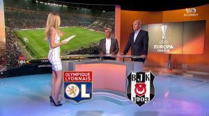 Carine Galli lors de la Soirée de l'Europa League - 13/04/17 - 07
