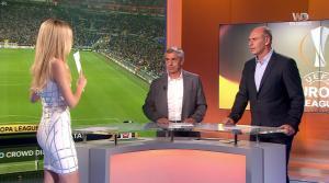 Carine Galli lors de la Soirée de l'Europa League - 13/04/17 - 09