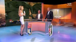 Carine Galli lors de la Soirée de l'Europa League - 13/04/17 - 10