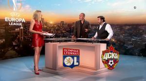 Carine Galli lors de la Soiréee de l'Europa League - 15/03/18 - 16