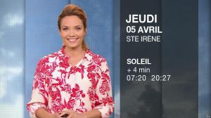 Gennifer Demey à la Météo du Soir - 04/04/18 - 04