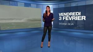 Tatiana Silva à la Météo du Soir - 03/02/17 - 01