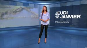 Tatiana Silva à la Météo du Soir - 12/01/17 - 01