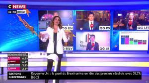 Sonia Mabrouk lors de la Soirée des Elections Européennes - 26/05/19 - 02