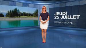 Stéphanie Duval dans la Meteo du Soir - 25/07/19 - 01