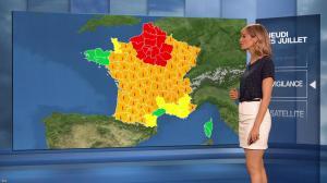 Stéphanie Duval dans la Meteo du Soir - 25/07/19 - 03