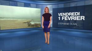 Stéphanie Duval à la Météo du Soir - 01/02/19 - 01