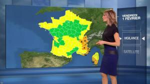 Stéphanie Duval à la Météo du Soir - 01/02/19 - 02