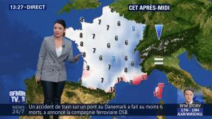 Virginie Hilssone à la Météo de BFM TV - 02/01/19 - 02