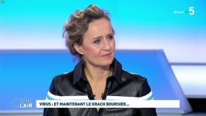 Caroline Roux dans C dans l'Air - 09/03/20 - 06