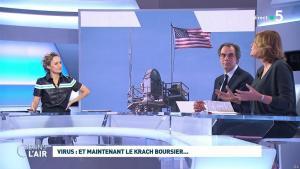 Caroline Roux dans C dans l'Air - 09/03/20 - 19