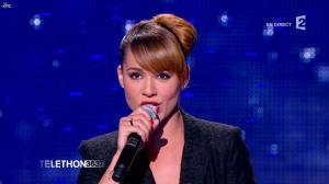 Chimène Badi dans téléthon - 03/12/11 - 03