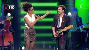 Audrey Pulvar dans Toute la télé Chante Pour le Sidaction - 06/04/13 - 05