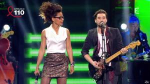 Audrey Pulvar dans Toute la télé Chante Pour le Sidaction - 06/04/13 - 06