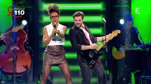 Audrey Pulvar dans Toute la télé Chante Pour le Sidaction - 06/04/13 - 09