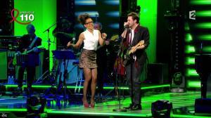 Audrey Pulvar dans Toute la Télé Chante Pour le Sidaction - 06/04/13 - 10
