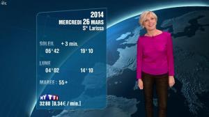 Evelyne Dhéliat à la Météo de 20h - 25/03/14 - 01