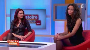 Delphine Wespiser et Flora Coquerel dans Toute une Histoire - 28/01/15 - 18