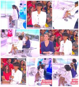 Collage de Audrey Pulvar dans le Grand 8 - 11/05/15 - 13
