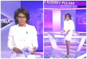 Collage de Audrey Pulvar dans le JT - 15/06/15 - 2