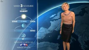 Evelyne Dhéliat à la Météo de 20h - 02/11/15 - 02
