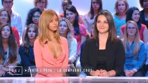 Zahia Dehar dans le Grand Journal de Canal Plus - 16/06/15 - 03