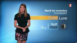 Chloé Nabédian à la Météo du Soir - 31/10/16 - 04