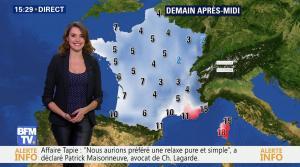 Fanny Agostini à la Météo de BFM TV - 19/12/16 - 10