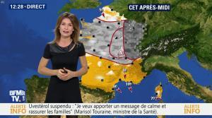 Sandra Larue à la Météo de BFM TV - 04/01/17 - 01