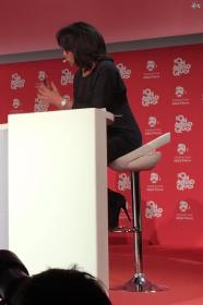 Audrey Pulvar dans Conference de la Fondation Abbe Pierre - 31/01/17 - 01