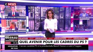 Audrey Pulvar lors du Premier Tour des Legislatives - 11/06/17 - 04