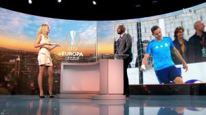 Carine Galli dans Europa League - 14/09/17 - 06