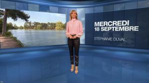 Stéphanie Duval à la Météo du Soir - 18/09/19 - 01